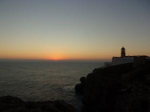 Coucher de soleil sur le cap St Vincent à Sagres
